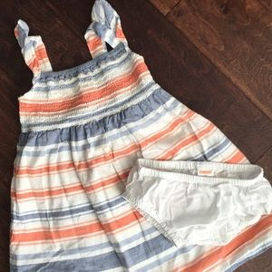 Gymboree red white and blue sundress toddler girl